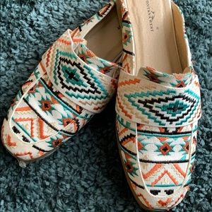 Aztec Print Loafer Slides